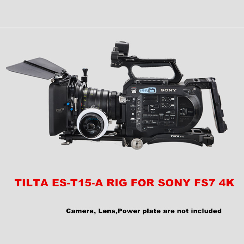 Tilta ES-T15-A FS7 RIG Baseplate + Ombro Pad + 4*4 leve matte box + Follow focus FF-T03 para sony câmera FS7 4 k