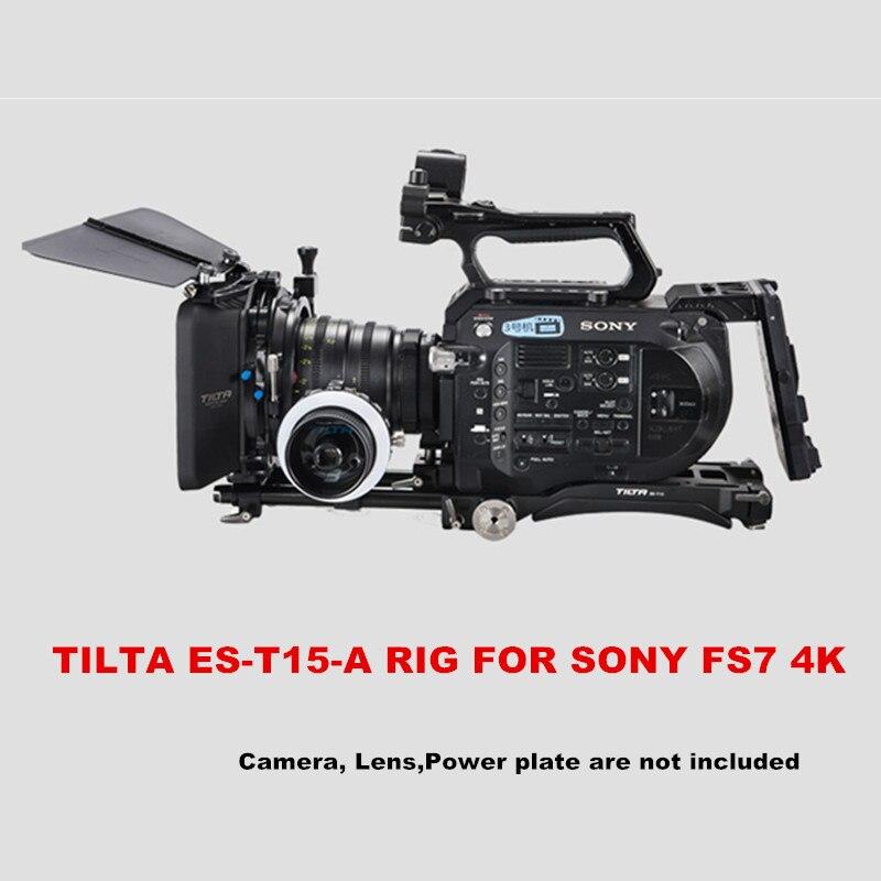 Tilta ES-T15-A FS7 plataforma placa base de hombro + Pad + 4*4 ligero caja mate + FF-T03 sigue en foco de atención para sony FS7 Cámara 4 k