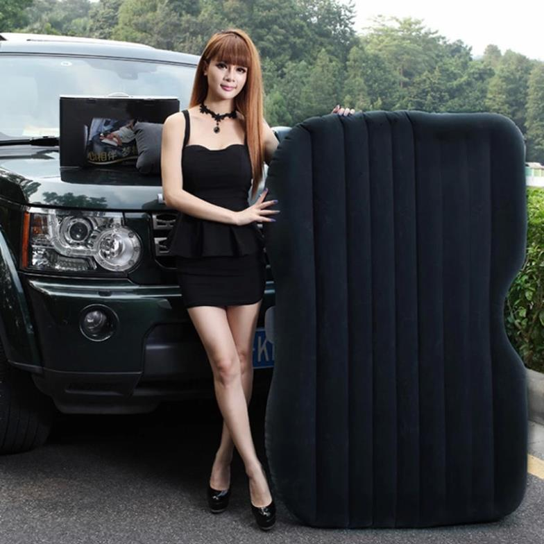 Car Back Seat Inflatable Bed PVC Inflatable Travel Bed Oxford Cloth Airbed