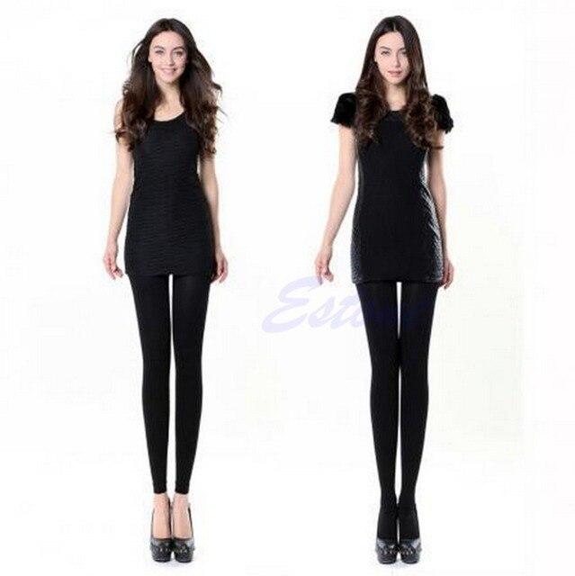 Women Black Slim Beauty Leg Shape Compression Burn Fat Thin leggings ... eac7df480c8f