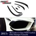 Mercedes classe C w205 s205 frente car bumper lip canards carro divisor de copos para w205 com pacote amg edição esportes 2015 +