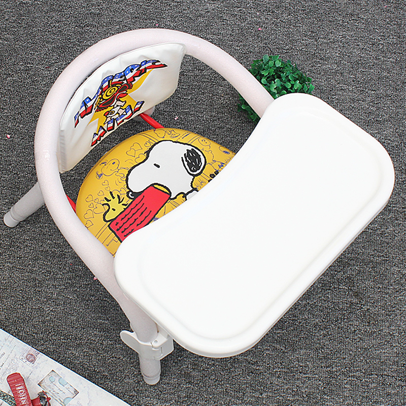 Children cartoon chair Baby Booster Seats Eating Dining Chair PP Plastic Folding Booster Seat Safety infant Chair Feeding Seat in Children Chairs from Furniture