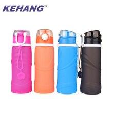 Силиконовая Спортивная бутылка для воды, емкость 20 унций-материал, не содержащий BPA