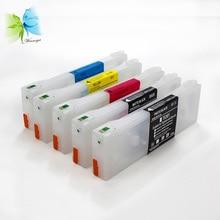 For Epson 7700 9700 empty refill Ink Cartridge + Free Chip Resetter цены онлайн