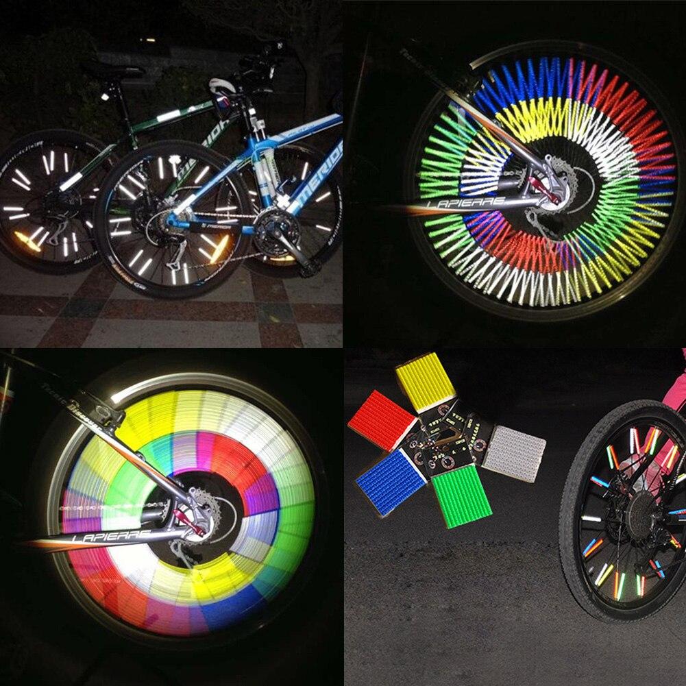 ab6c6d6f840 12pcs/set Reflective Mount Tube Clip Warning Strip Bicycle bike Wheel Spoke  Reflector mountain rear bike reflector light