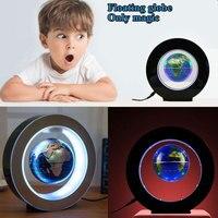 2W DC12V Magnetic Floating Globe Map W LED Light Colorful Decor EU Plug