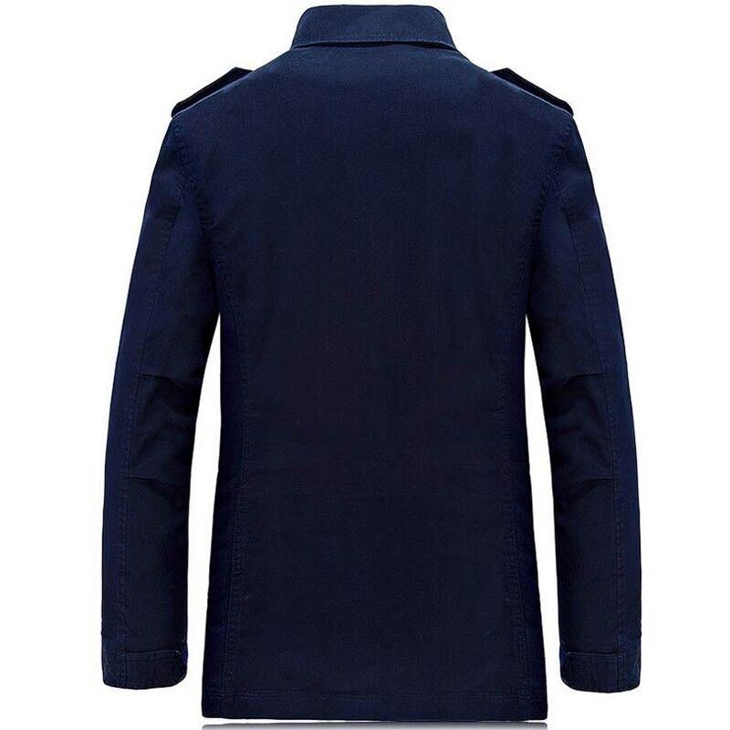US $41.29 51% OFF  : Koop 2019 Herfst Geul Jas Heren Jassen Solid Casual Katoen mannen Windbreakers veste homme Jas Mannelijke 4XL van