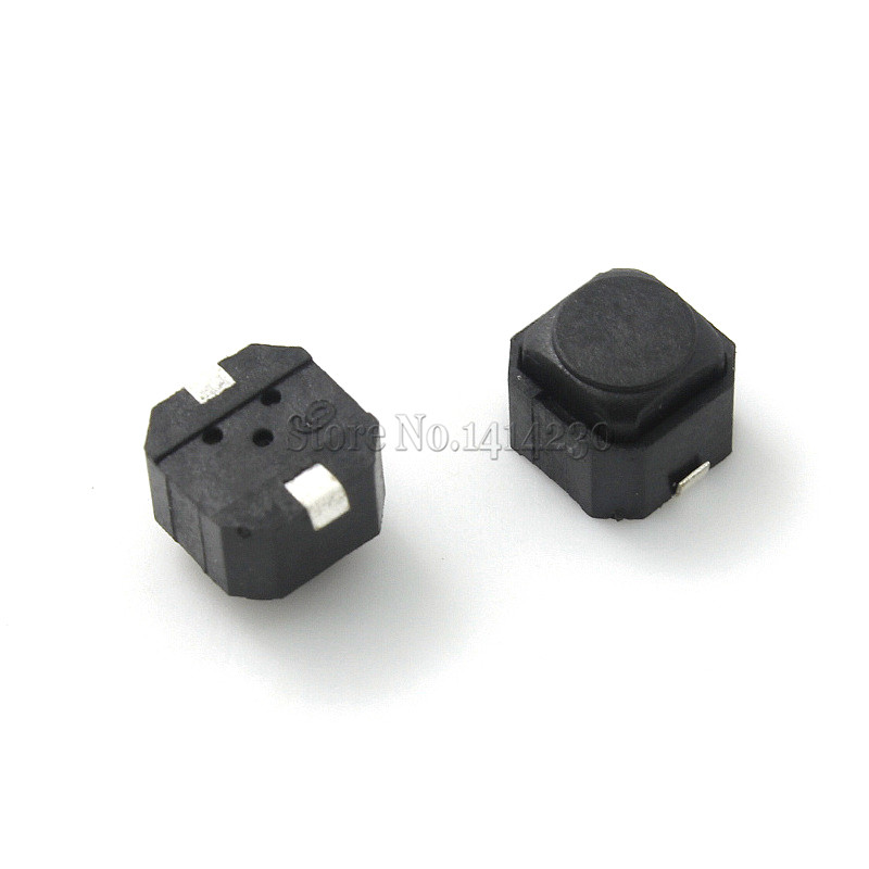 10Pcs Silent Tact Switch 6*6*5mm 6x6x5mm Smd Silicone Button Switch Touch Switch Height 5mm