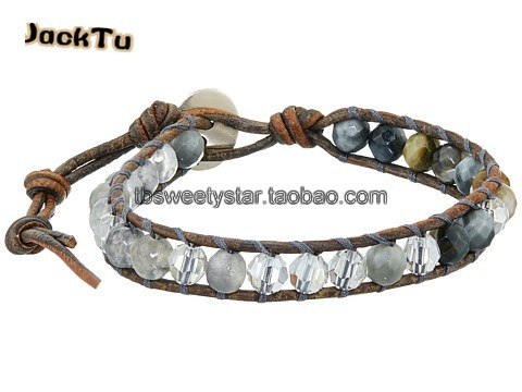 2016 jacktu botswana agate mix crystal single wrap bracelet healthy