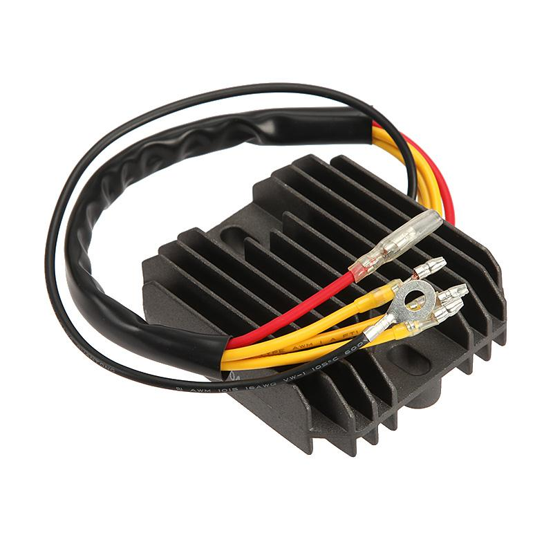New Black Motorcycle Voltage Regulator Rectifier 12V For