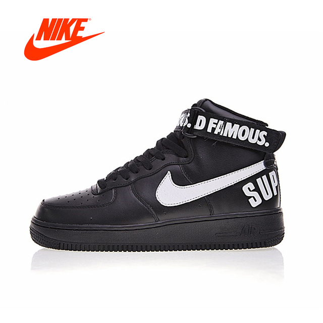 Original New Arrival Authentic Nike Air Force 1 X Supreme AF1 SUP Men s  Skateboarding Shoes Sneakers Good Quality 698696-010 81d05bdebf