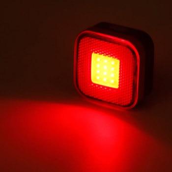Bicicleta luz trasera luz Aero hoja redonda montaje tija W/Clip de la bolsa de hasta 50 horas trasera lámpara de advertencia LED linterna de mazorca de carga USB