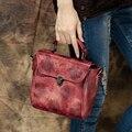 2017 Women Handbag Genuine Leather Top Handle Bag Female Shoulder Messenger Bag Handmade Cow Leather Lady Purse