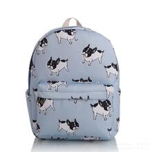 2017 женщины девушки милая собака холст рюкзаки школьные рюкзак дорожная сумка рюкзак шаблон характер Шарм Mochila Новый