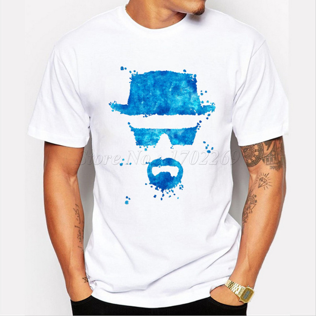 2017 Fashion Breaking Bad T Shirt Heisenberg 3D Printed Short Sleeve Tee Hipster