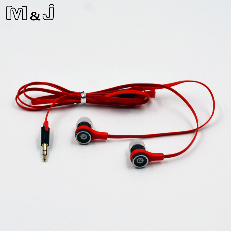 M & J JM21 Asli Stereo Earphone Colorful Merek Earbud Headset untuk - Audio dan video portabel - Foto 5