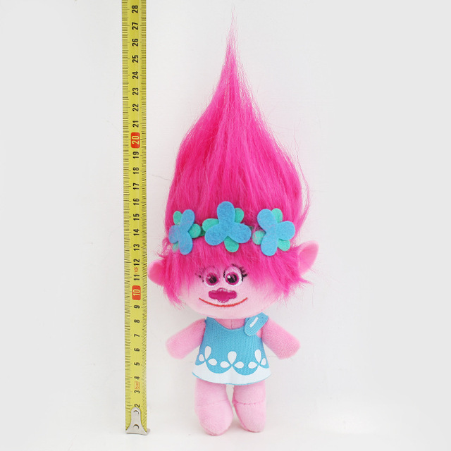 23-32cm Hot sale Movie Trolls Plush Toy Poppy Branch Dream Works Stuffed Cartoon Dolls The Good Luck Trolls Christmas G