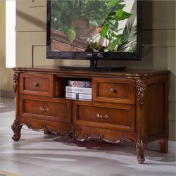 Antyczne wysokiej salon drewniane meble LCD TV stojak p10287