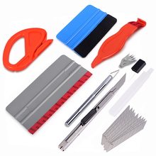 EHDIS Car Vinyl Wrap Film Squeegee Stick Scraper Set Sticker Wrapping Carbon Cutter Knife Accessories Window Tint