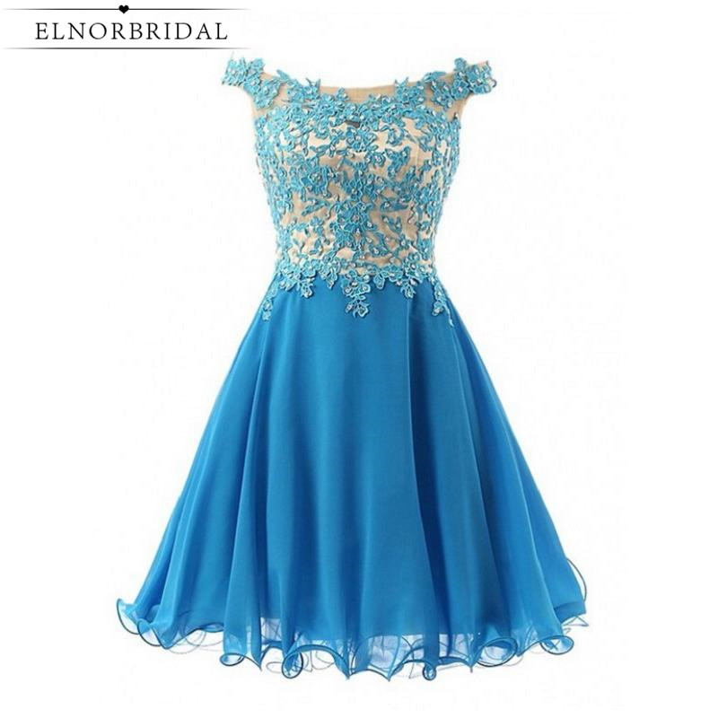 Robe Cocktail Courte Chic Sky Blue Cocktail Dresses 2017 Short Prom Dress Appliqued Beaded Homecoming Gowns Free Shipping
