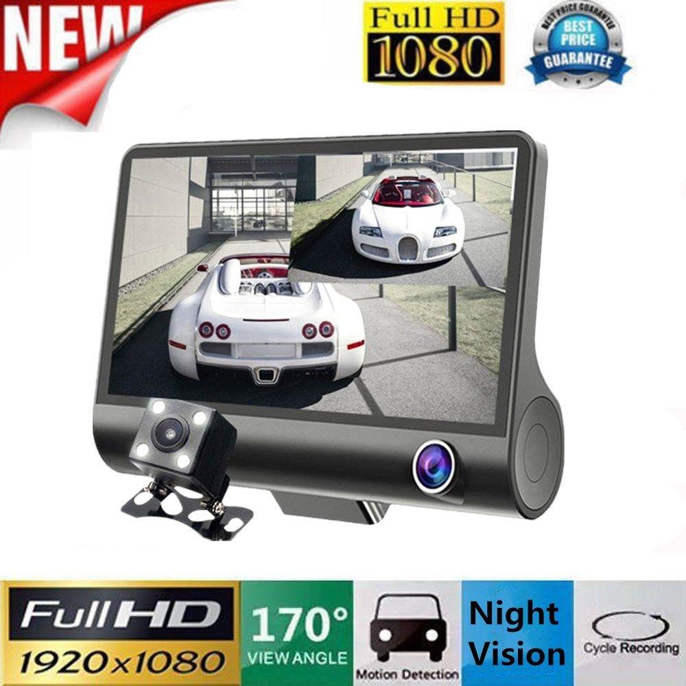 Car Camera Drive-Recorder Motion-Detection Inside/rear Dash-Cam Night-Vision 3-Lens Full-Hd