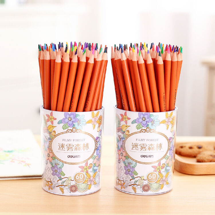 Deli 60 Colors Filmy Forest Color pencil stationery Wood Colored Pencil For Writing Drawing Art Supplies 6502 cute lovely color pencil drawing tutorial art book