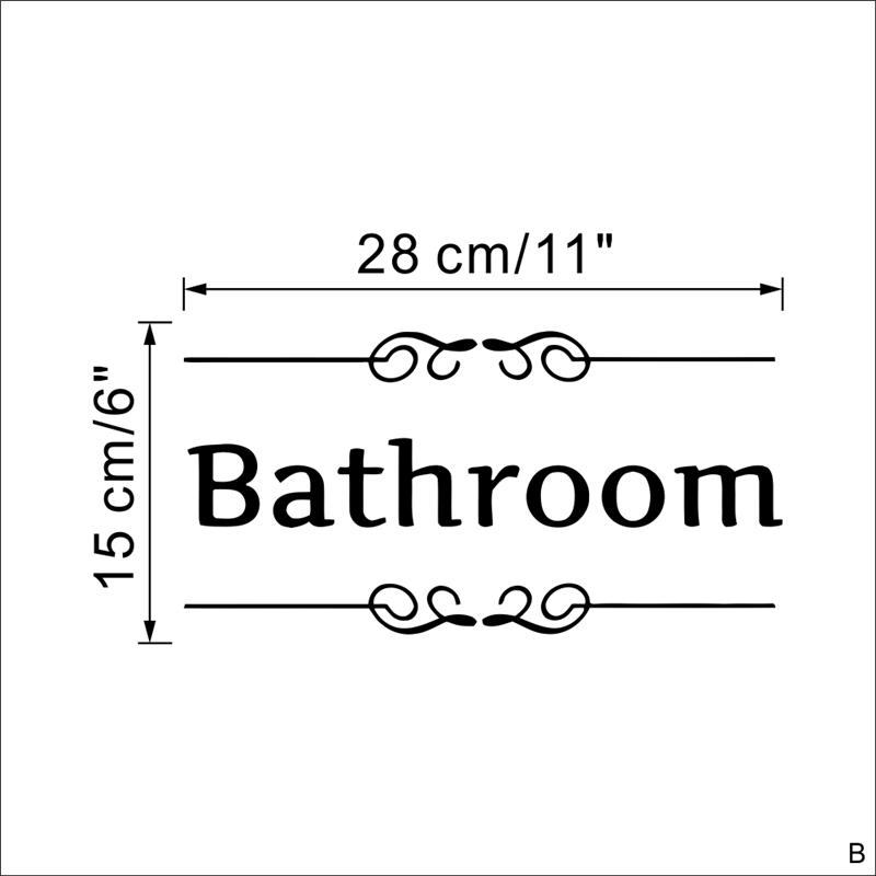 HTB10pTAOpXXXXbpaXXXq6xXFXXXr - bathroom rules door sign vinyl quotes lettering words wall sticker For bathroom-Free Shipping