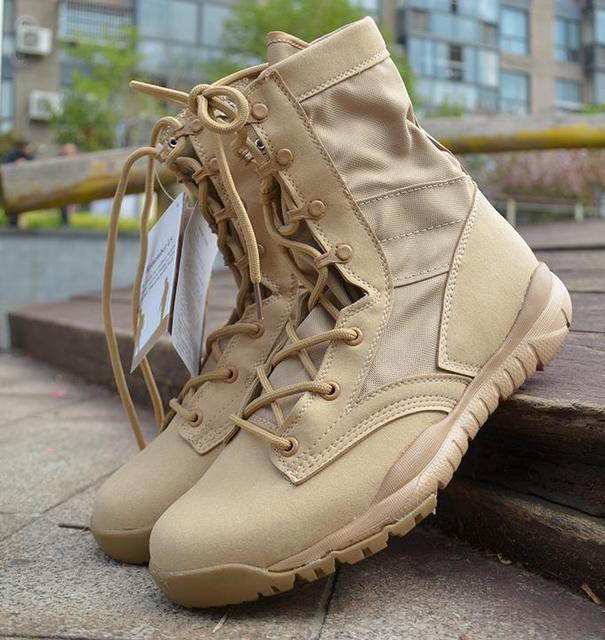 Ultralight Erkekler asker botu Askeri Ayakkabı Savaş Taktik yarım çizmeler Erkekler Için Çöl/orman çizmeleri Açık Ayakkabı Boyutu 35 46