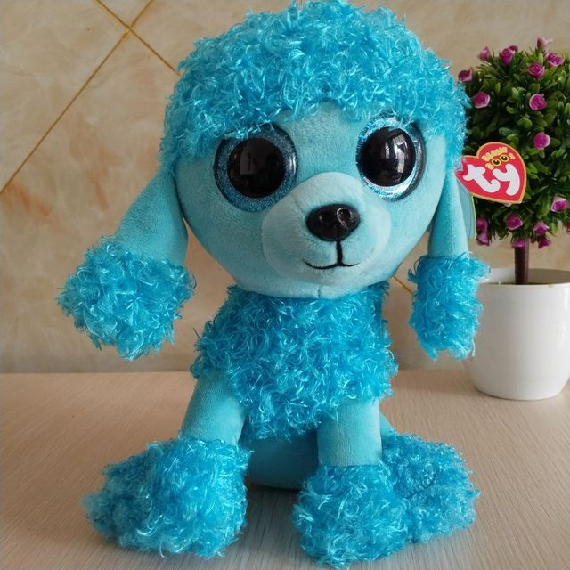 67331eee3bd MANDY - blue poodle TY BEANIE BOOS collection 25CM 10
