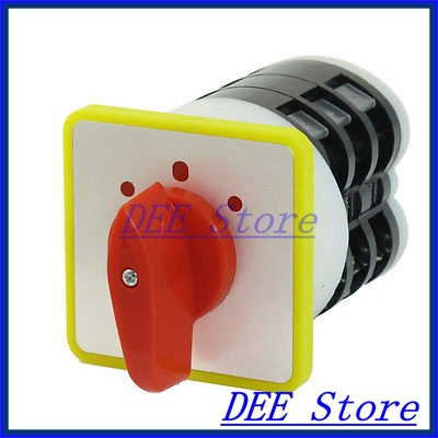 16A/500VAC 12 Screw Terminals 3 Positions ON/OFF/ON Universal Changeover Switch 16a 500vac 16 terminals on off on universal changeover switch lw5d 16 4