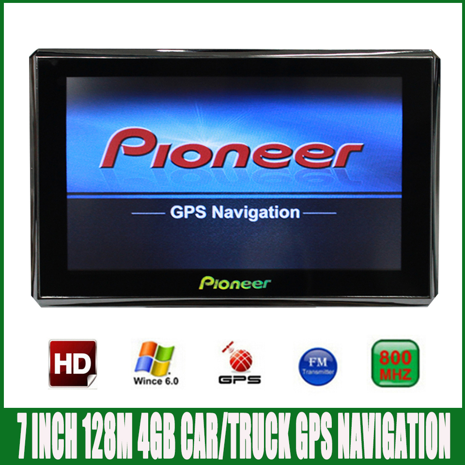 7 inch HD Car truck OS CE6.0 800*480 MTK MS2531 GPS Navigation 800MHZ/FM/4GB/DDR 128M Newest  Maps For Russia/ Europe/USA/Spain