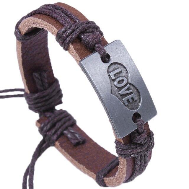 Janeyacy 2018 новый индивидуальный кожаный браслет для мужчин