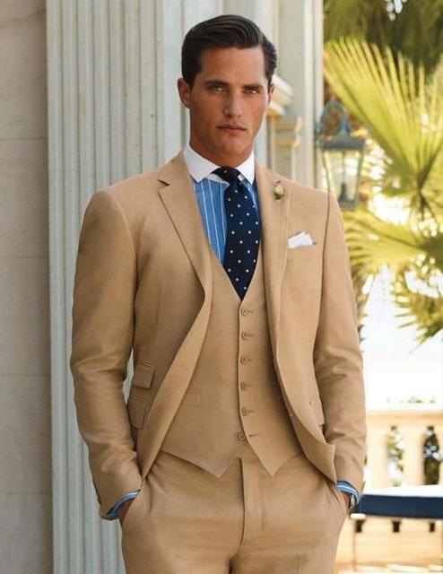 Men Wedding Suit Tuxedo Grooming Two Brown Men Wedding Suits ...