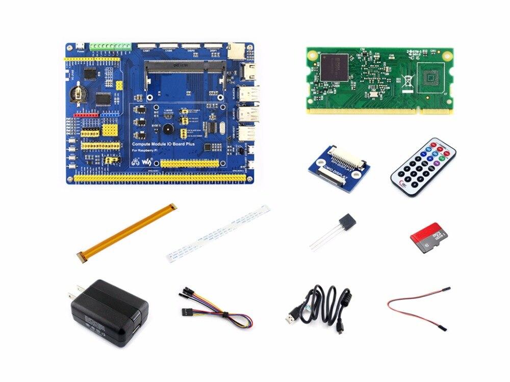 Module de calcul Raspberry Pi Kit de développement 3 Lite Type A avec Module de calcul adaptateur d'alimentation 3 Lite carte Micro SD, câble de caméra