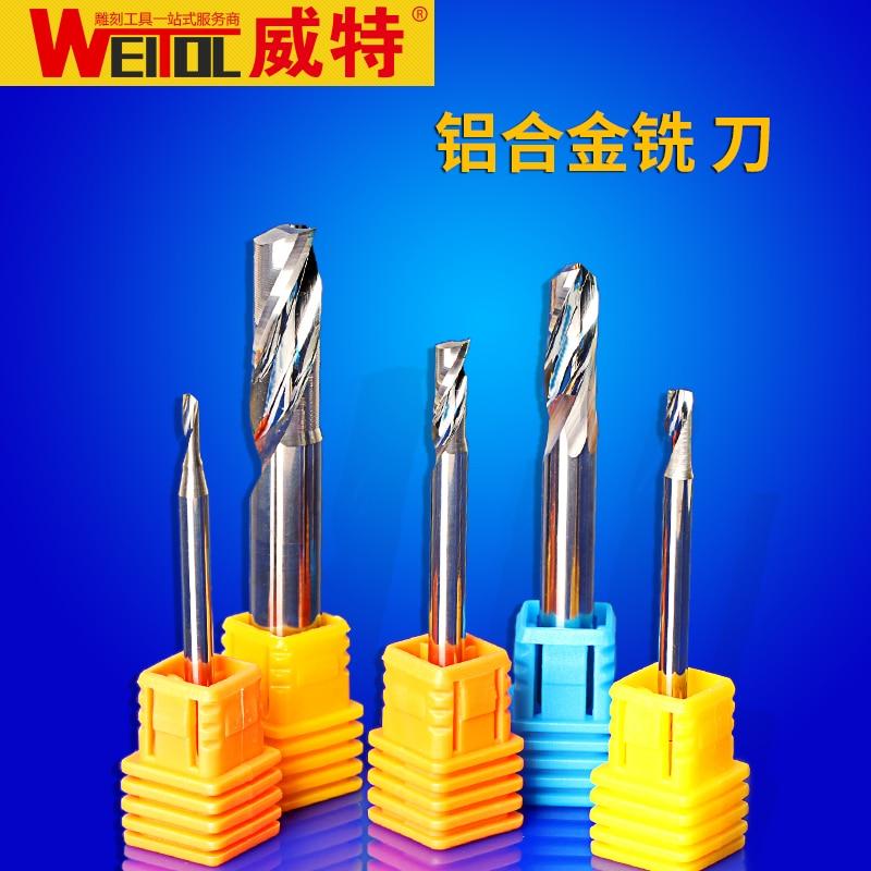 Weitol CNC 1  Pcs/set 1 Flutes End Mills Diameter 3.175/4/6/8mm Milling Cutter For Aluminium Router Bit CNC Tools router bit 8 8 35 100 of 3 flutes flat end mills carbide end milling tungsten knife cnc machine tools mills cutter