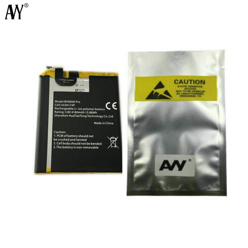 "AVY Battery U536174P For Original BV9000 BV9000 pro 5.7""Mobile Phone Batteries Replacement Repair Parts(China)"