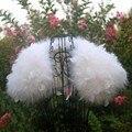 Из страусиных Перьев Белый Свадьба Шуба Манто Fourrure Femme Болеро Свадебная Перо Болеро Свадебные Куртки Зимнее Пальто Женщин