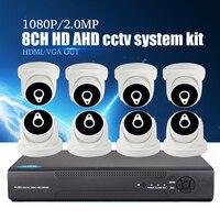 YiiSPO 8CH 5in1 1080N DVR комплект видеонаблюдения 1080 P 2MP AHD камера 8 шт. HD коаксиальный комплект видеонаблюдения HDMI VGA OUT Vedio комплект видеонаблюдения