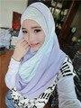 Красивые кружева Шифон лоскутное мусульманский хиджаб пашмины шарфы