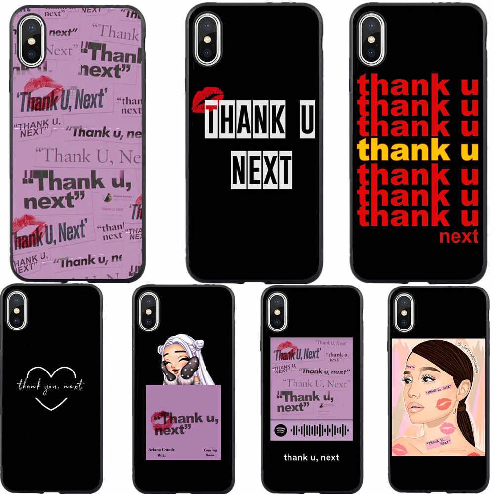 AG Ariana Grande ขอบคุณ U ถัดไป Tpu สีชมพูสำหรับ iphone XS MAX X XR 6 s 7 8 Plus 6 sPlus 5 S SE Rainbow สารให้ความหวาน