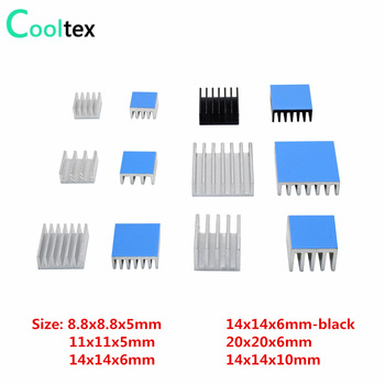 Aluminum Heatsink Radiator Heat Sink Cooling For Electronic Chip IC 3D printer Raspberry PI With Thermal Conductive Tape 1