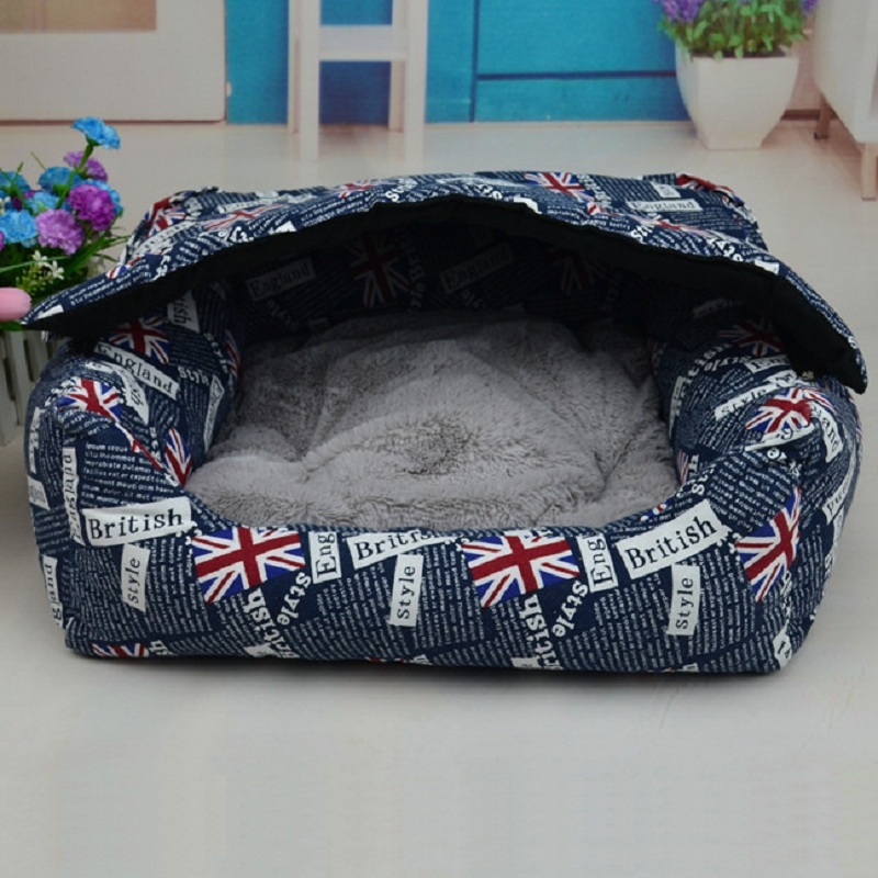 Top quality pet dog house with removable pillow roof dog for Dog bed roof