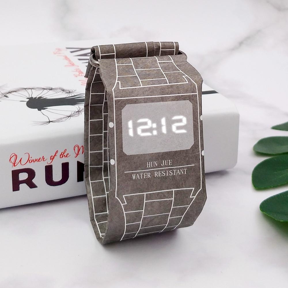 Hot Sale Fashion Creative Men's Digital Watch Men Paper Waterproof LED Watches For Men Electronic Watch Men's Watch Clock reloj цена