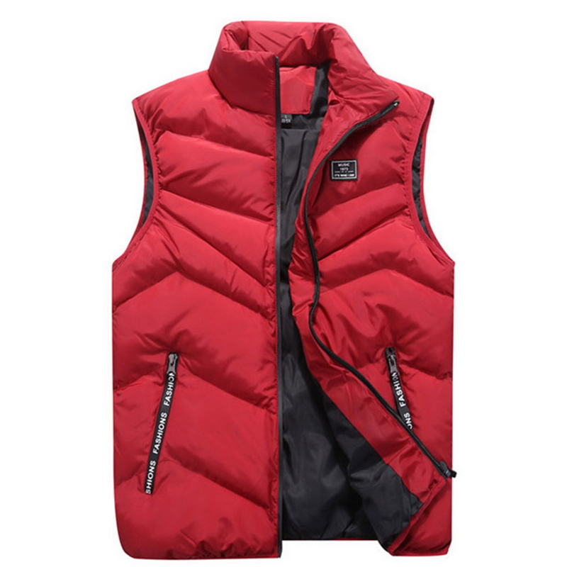 Image 2 - FALIZA 2019 Men's Vest Spring Winter Sleeveless Jacket And Coats Mens Waistcoat Warm Thick Casual Gilet Homme Male Vests MJ110-in Vests & Waistcoats from Men's Clothing