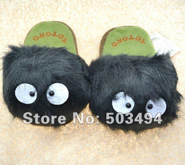 NEW My Neighbor Totoro Ghibli Dust Bunny Adult Plush Figure Doll Slipper Totoro slippers 11inches totoro dust bunny slippers