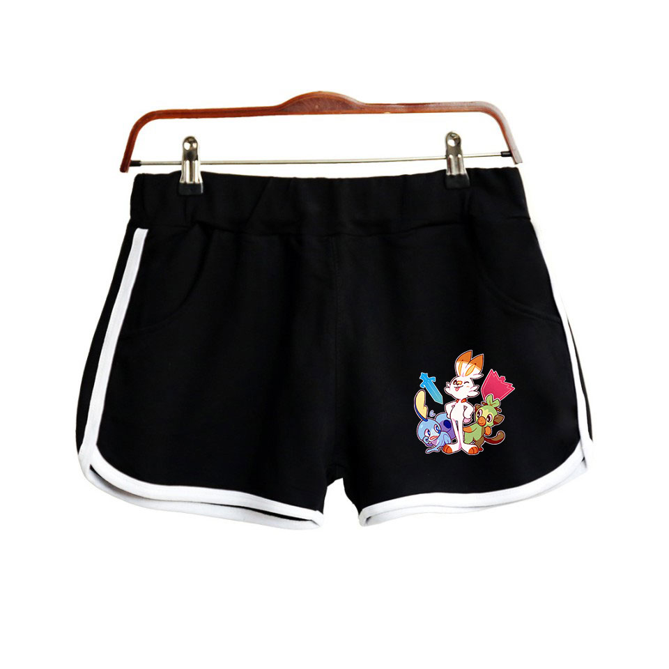 Pokemon Sword and Shield Printed Cool Game Sexy Hot Shorts Hight Quality Women Summer College style Running Streetwear Shorts