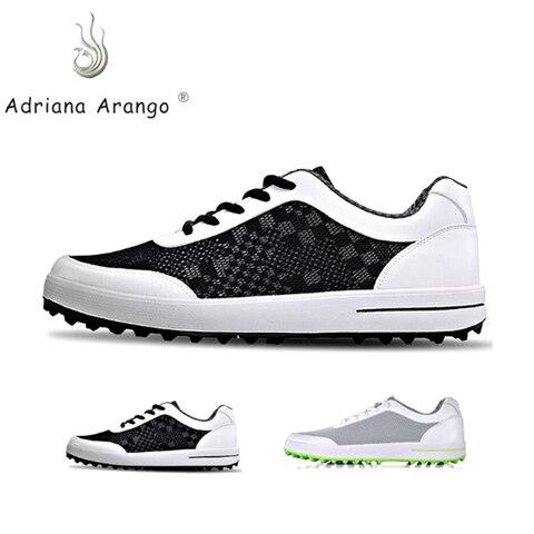 Sapatos de Golfe para Homem Malha de ar Sapatos de Golfe Anti-deslizamento ao ar Tênis de Golfe Adriana Livre Leve Respirável Proffessional Pgm