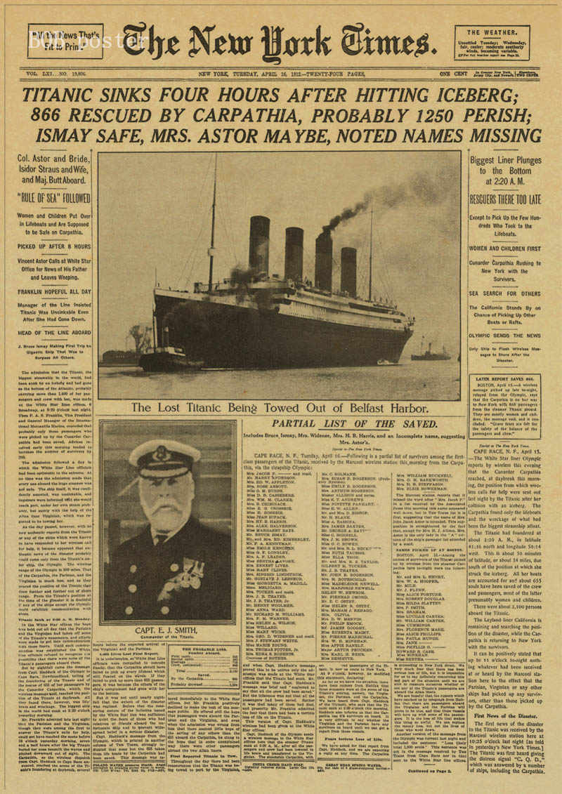 New York Times newspaper poster/ History Time / Kraft Old