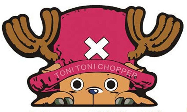 5pcs Japanese Anime ONE PIECE CHOPPER Car Sticker Auto Emblem Decal Accessories