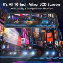 купить AZDOME PG 02 Full HD 1080P Mirror Car Dvr Camera Auto 10 Inch Rearview Mirror Digital video recorder night vision dash cam по цене 5080.23 рублей